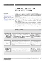 CONTROLLO DI GESTIONE DELLA RETE VENDITA - Ratio