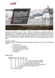 Izolatoare electrice de inalta tensiune tip suport - Mondo Trade