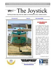 The Joystick - South African Power Flying Association