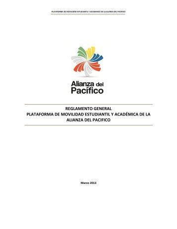 reglamento general plataforma de movilidad estudiantil y ...