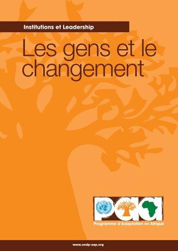Les gens et le changement haute-rés.pdf - Africa Adaptation ...