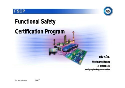 Functional Safety Certification Program y Certification