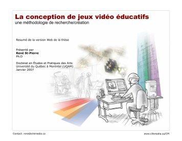 La conception de jeux vidéo éducatifs - Clik Media