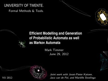 Efficient Modelling and Generation of Probabilistic ... - Server