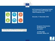 EU Framework Programme funded research in the Plant ... - PolSCA
