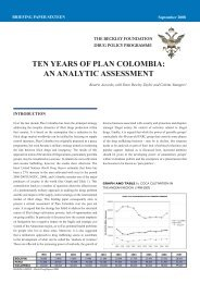 ten years of plan colombia: an analytic assessment - Global Initiative ...