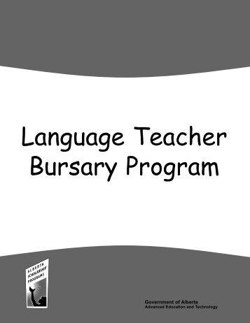 2009 Language Teacher Bursary Program - ALIS - Government of ...