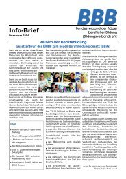 BBB-Info-Brief, Ausgabe 12/04 - Bundesverband der Träger ...