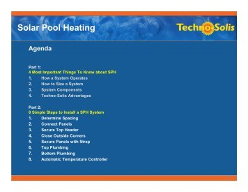 Solar Pool Heating Presentation