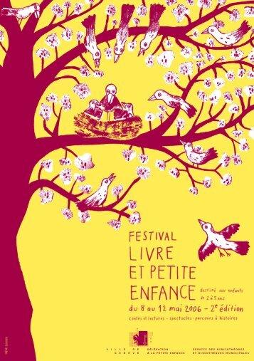 Programme 2006 du Festival du livre petite enfance - Ville de Genève