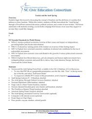 Tunisia and the Arab Spring - Database of K-12 Resources