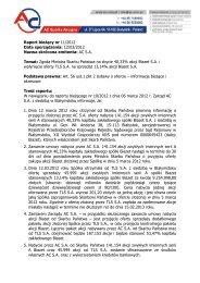 Raport bieżący nr 11/2012 Data sporządzenia: 12/03/2012 Nazwa ...
