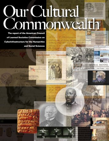 Our Cultural Commonwealth - American Council of Learned Societies