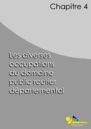 Types d'occupation du domaine public routier départemental