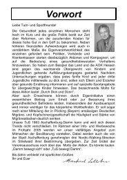 Vorwort - TuS 1863 Damm