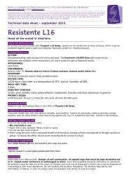 Technical data sheet – september 2012 Hard oil for wood in ... - Solas