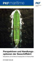 Perspektiven und Handlungs optionen der Seeschifffahrt - PKF