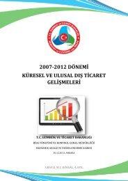 2007-2012 Dünya ve Türkiye Dış Ticareti Değerlendirme Raporu v3