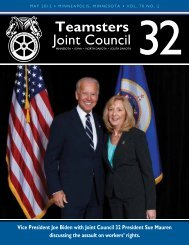 June, 2012 Edition - Teamsters Joint Council 32