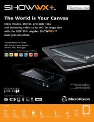 The World is Your Canvas - Microvision.com