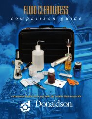 Fluid Cleanliness Comparison Guide - Donaldson Company, Inc.