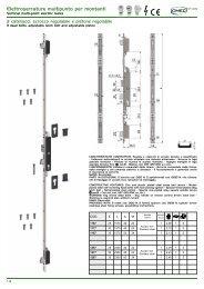 Elettroserrature multipunto per montanti - Rora Distribuzioni