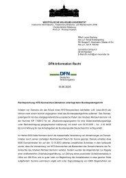 DFN-Information Recht - DFN-PKI