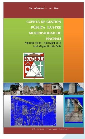 cuenta de gestion pública ilustre municipalidad de machalí
