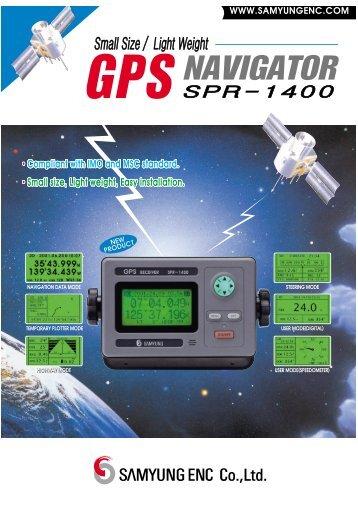 Small Size / Light Weight SPR-1400 GPS NAVIGATOR