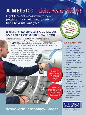 X-MET5100 - new XRF analyzer for Light Element ... - TCR Arabia