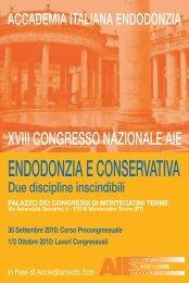 XVIII Congresso Nazionale - Accademia Italiana Endodonzia