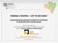 Kamila Lesiw- Głowacka- Energia z wiatru- czy to ma sens?