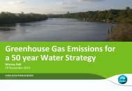 Greenhouse gas emissions for the SEQ Water Strategy