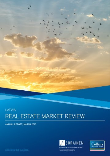 REAL ESTATE MARKET REVIEW - Colliers