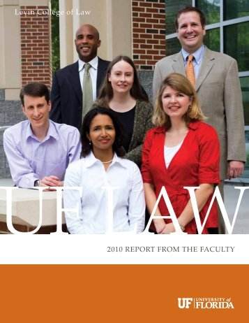 2010 Faculty Report - uri=law.ufl - University of Florida