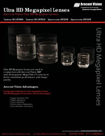 Ultra HD lenses - Arecont Vision