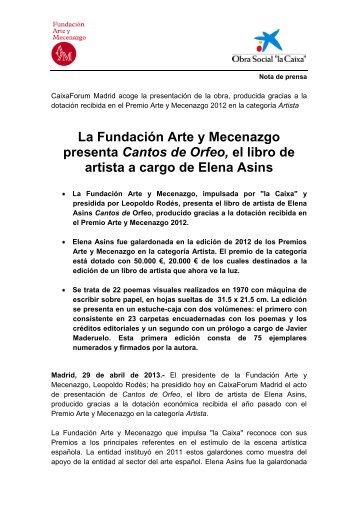 Elena Asins - Fundación Arte y Mecenazgo