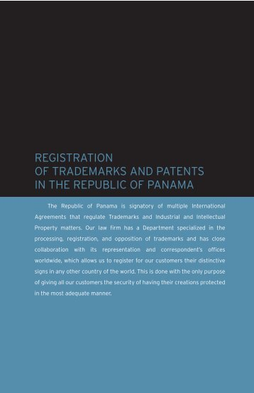 registration of trademarks and patents - Infante & Pérez Almillano