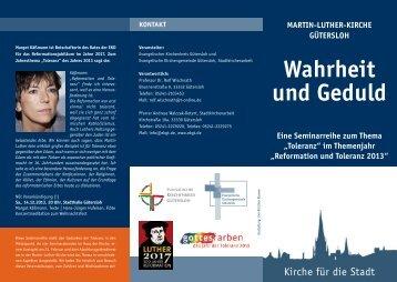 Seminarreihe zum - Evangelischer Kirchenkreis Gütersloh