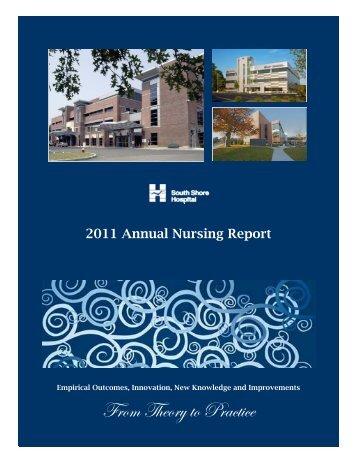 2011 Nursing Annual Report - FINAL.pub - South Shore Hospital