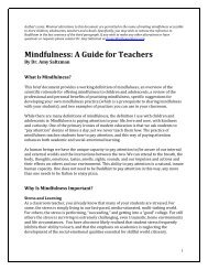 What Is Mindfulness - The Center for Contemplative Mind in Society