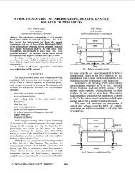 A Practical Guide To Understanding bearing Damage Related To ...