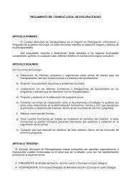 Reglamento del Consejo Local de Discapacitados - ISOTools