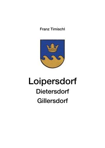 Ortschronik Inhaltsverzeichnis.pdf (315KB) - Gemeinde Loipersdorf
