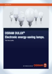 Technical guide: OSRAM DULUX electronic energy-saving lamps