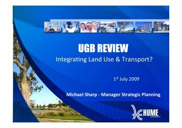 Presentation on Urban Growth Boundary Review, City of Hume