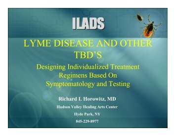 LYME DISEASE AND OTHER TBD'S