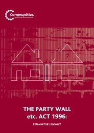 THE PARTY WALL etc. ACT 1996: - Planning Portal