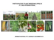participatory plant breeding (ppb) di pt. bisi international