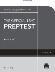 June-2007-LSAT-PrepTest